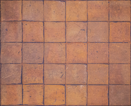 Seamless and earthenware tile pattern floor background