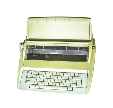 Electric typewriter isolated on white with clipping path