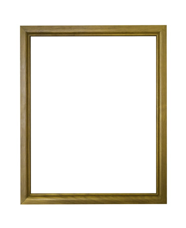 Wooden frame isolated on white with clipping path Stock Photo