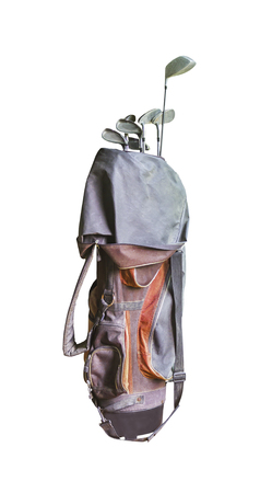 Golf bag isolated on a white background