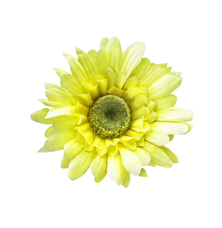 Artificial sunflower isolated on white with clipping path