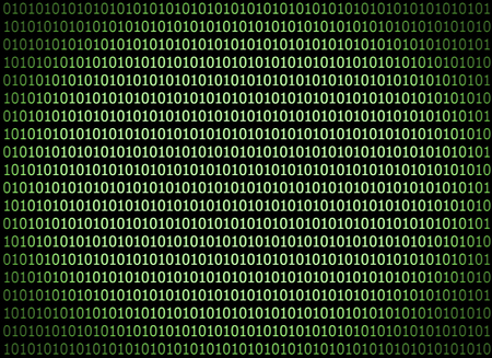 Green pattern of binary computer code background