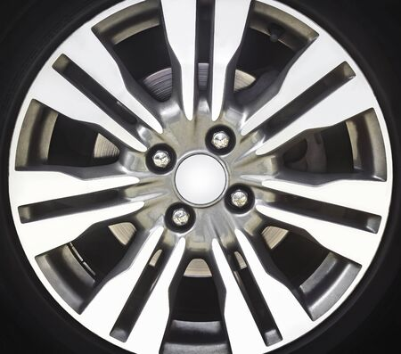 Detail of a car alloy rim background