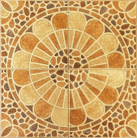 Seamless pattern of classical floor tiles