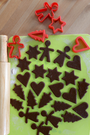 Making Christmas Gingerbread Cookies - Dough and Cutters photo