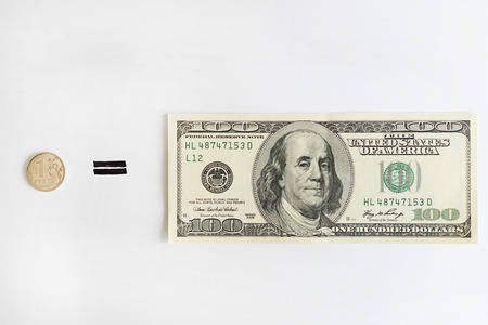 trading questions: One Russian Ruble Equals One Hundred American Dollars. Financial and economic news