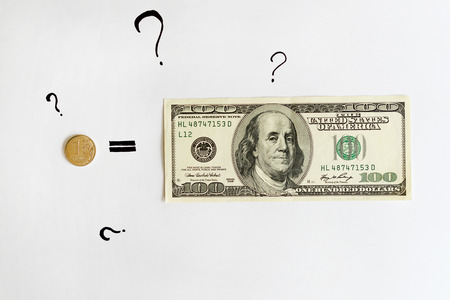 trading questions: One Russian Ruble Equals One Hundred American Dollars. Financial news. Question marks