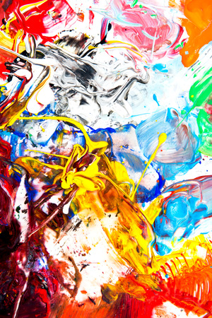 paint palette: Background Image of Bright Watercolor Paint Palette closeup