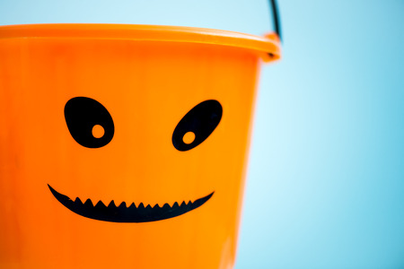 Child Trick or Treat Empty Halloween Bucket is Ready for the Candy Treats, Pumpkin Style