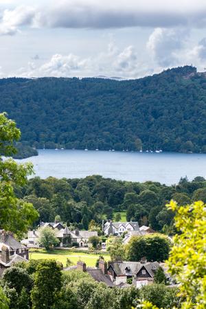 lakeland: An aerial View of Windermere Lake. English Lake District National Park, Cumbria, UK