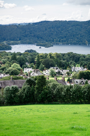 cumbria: An aerial View of Windermere Lake. English Lake District National Park, Cumbria, UK