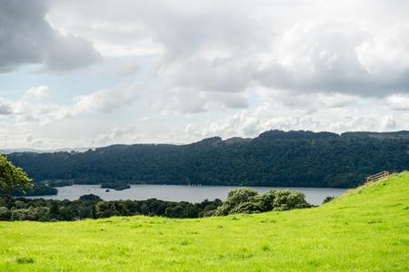 lake district: An aerial View of Windermere Lake. English Lake District National Park, Cumbria, UK
