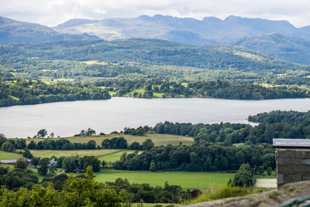 cumbria: Views on Windermere Lake from Orrest Head. English Lake District National Park, Cumbria, UK