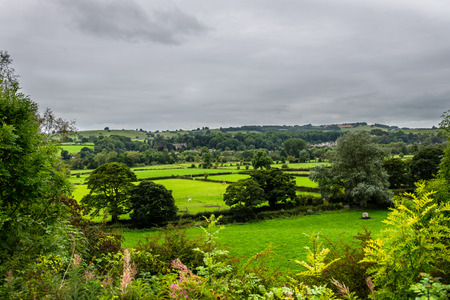 Picturesque View near Bakewell in Peak District National Park during Summer, Derbyshire, England, UK
