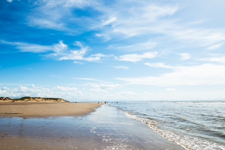 Sandy Formby Beach  near Liverpool on a sunny day. This is the North West Coast of England, United Kingdom
