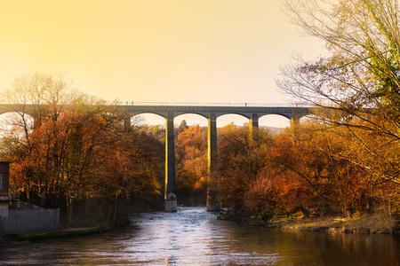 Aqueduc de Pontcysyllte avec canal de Llangollen au Pays de Galles, Royaume-Uni