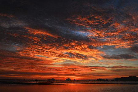 evening sky: Sunset Stock Photo