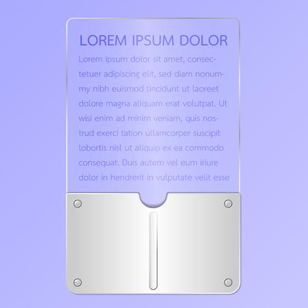 Metal and glass plate