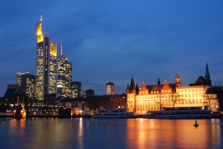 skyline frankfurt Stock Photo