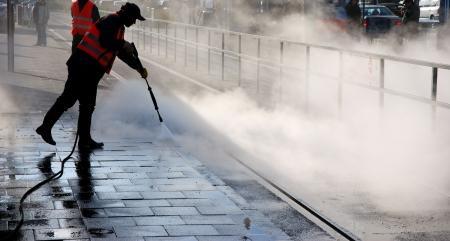 steam cleaning Standard-Bild
