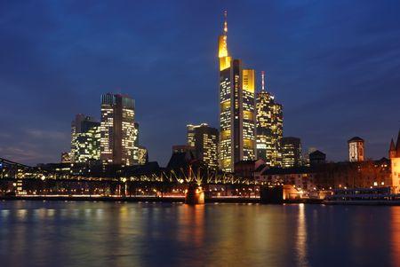 skyline frankfurt Standard-Bild