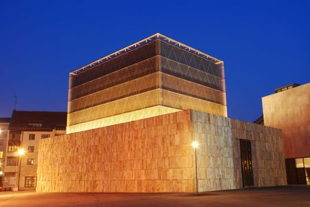 cuboid: synagogue in munich Stock Photo