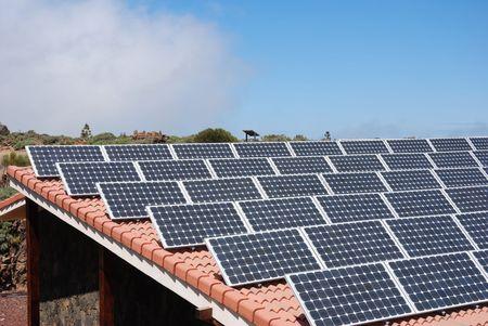 energia solar: Paneles solares  Foto de archivo
