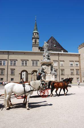 salzburg: horse carriage at Salzburg