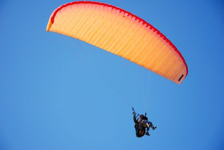tandem para-glider Stock Photo