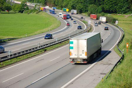 traffic uphill Standard-Bild