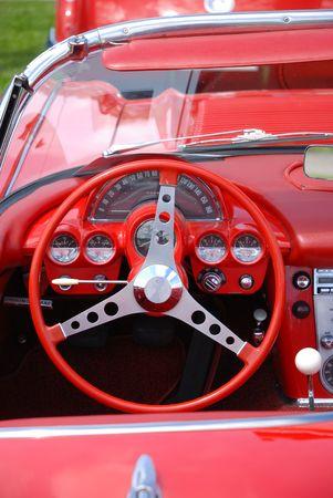 dashboard vintage car