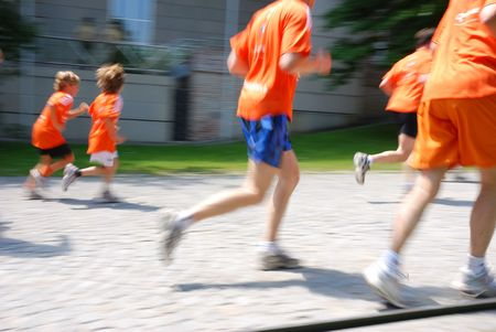 runner with motion blur