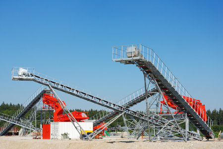 conveyors: conveyors at construction site