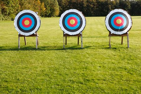 archery target: three targets Stock Photo