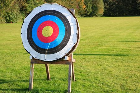 archery target: one target Stock Photo