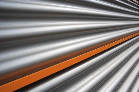 corrugated facade Stock Photo