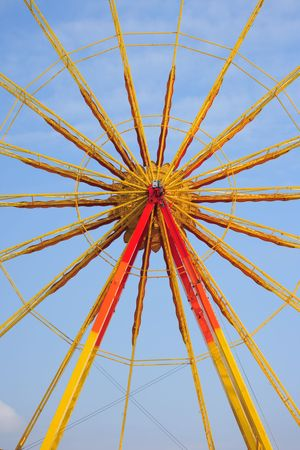 yellow ferris wheel abstract photo