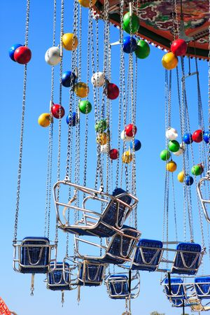 carousel and balloons Stock Photo