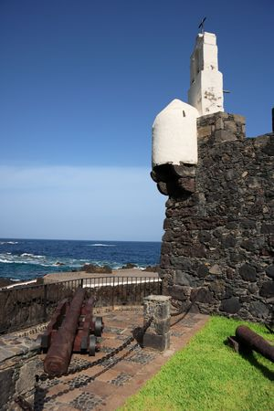 fort and cannon in garachico, tenerife