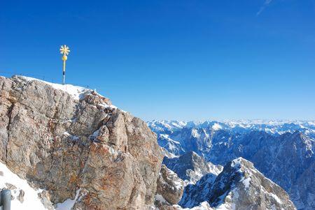 zugspitze mountain: summit Stock Photo
