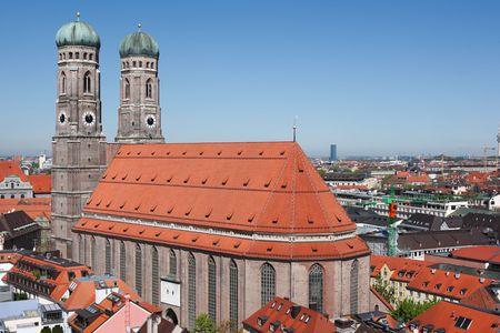 munich cathedral and cityscape munich, germany