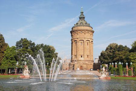 local landmark Wasserturm in Mannheim, Germany Stock Photo
