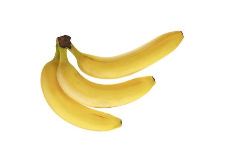 banana skin: Bunch of bananas isolated on white background. isolated Stock Photo
