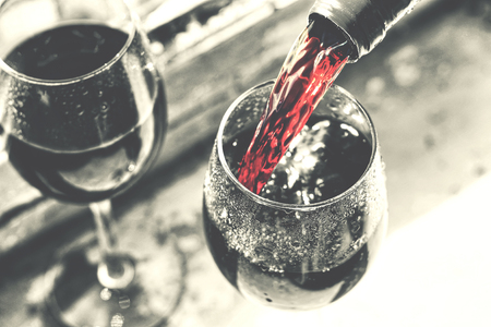 valentines day, date, love, Celebration. pouring red wine.