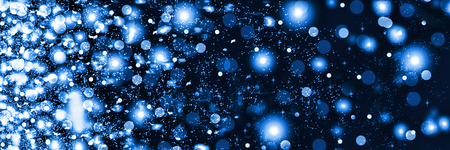 Falling snow at night. New Year Christmas. On a black background white fluffy snowflakes. abstrakt