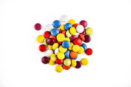 Multicolored candy isolated on white background Stock Photo