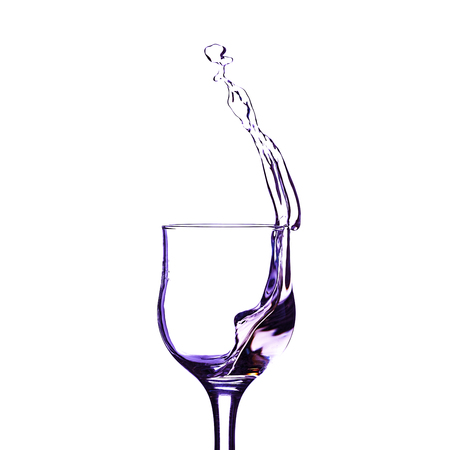 wine, red, isolated, glass, splash, white, alcohol, beverage, background, drink, liquid, wineglass, copy space Archivio Fotografico - 116857465