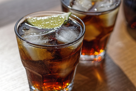 Rum, Cola, Cuba Libre, alcohol, ice, rum, glass, cocktail, refreshment, lime.