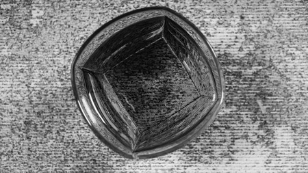 Cognac in a glass Old fashion, Black and white Stok Fotoğraf