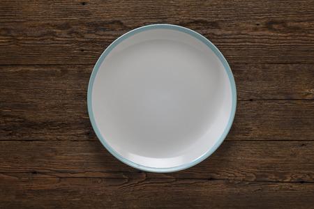 Cocina, cocina, plato vacío, madera, rústico, porcelana,